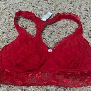 DKNY Red lace bralette - med